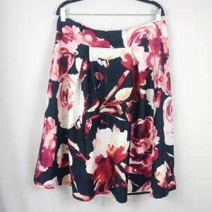 Zenobia Floral Skirt Roses A-Line